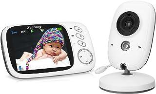 Vigilabebés Inalambrico Bebé Monitor con cámara 3.2 LCD visión nocturna Wireless Baby Monitor sensor de temperatura