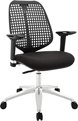 Modway Reverb Modern Ergonomic Office Chair with Adjustable Armrests in Black