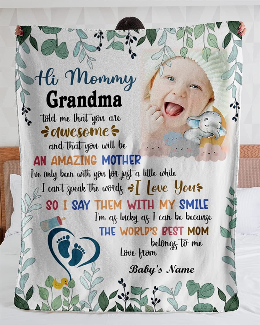 Hi Mommy Grandma Told Me That Blanket Blan are You Gift famous Max 86% OFF Awesome