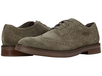 Clarks Paulson Wing (Olive Suede) Men