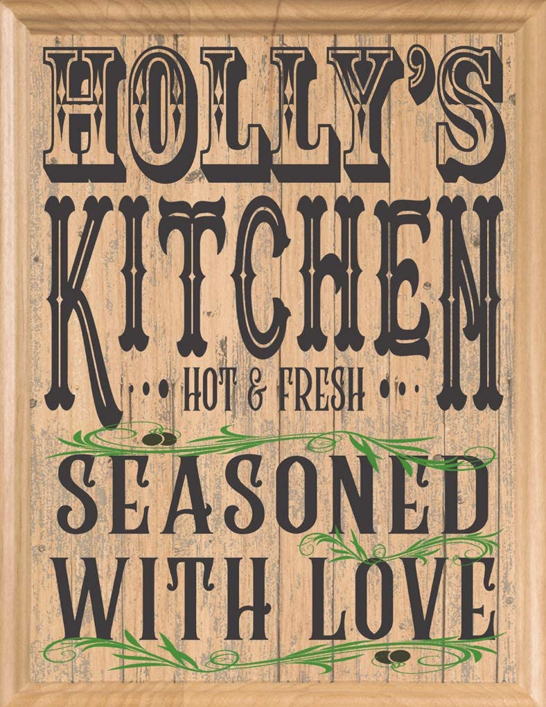 Broad Bay Personalized Kitchen Name Wood Beauty products Signs Maple Custom Manufacturer regenerated product Kitc