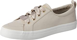 Sperry Crest Vibe Satin Women's Lace Trainers Shoes, White, 10 US