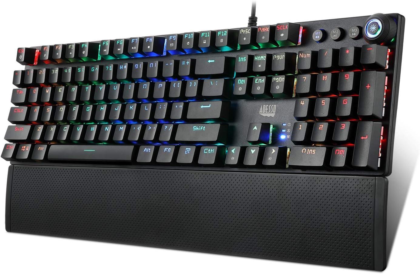 Adesso AKB-650EB Programmable Mechanical Gaming Keyboard