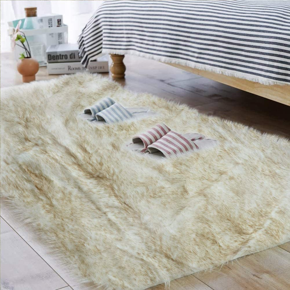 We OFFer at cheap prices Carvapet Fluffy 2021 Shaggy Soft Faux Sheepskin M Floor Fur Area Rugs