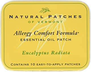 Natural Patches of Vermont Allergy Comfort Formula Essential Oil Body Patches, Eucalyptus Radiata, 10-Count Tin