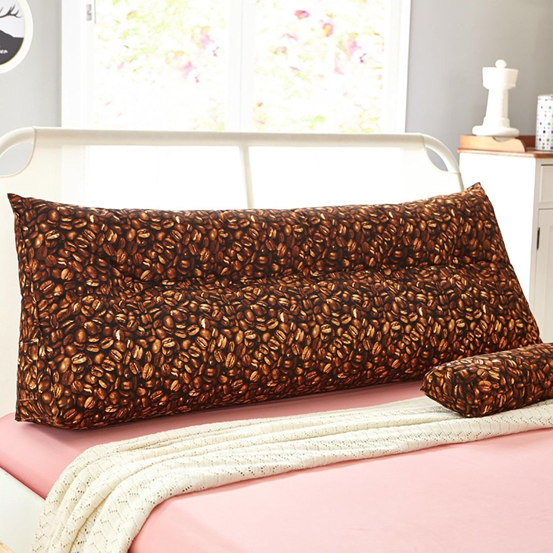 HUANLIN Canapé-lit Grand coussin de cale triangulaire rempli Chambre à coucher Appuie-oreiller à dossier avec couvercle amovible (taille   180  50  22cm)