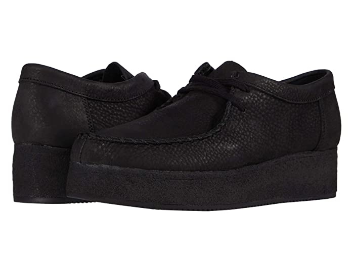 Clarks  Wallacraft Lo (Black Nubuck) Womens Shoes