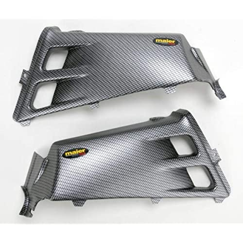 YAMAHA YFZ350 YFZ 350 BANSHEE CARBON FIBER GRILLE 87-06 WITH DECAL BLACK