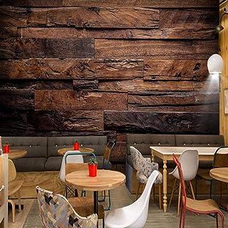 壁紙の壁画大きな壁の絵、レトロな懐かしい木製パネルの木目壁の壁画壁画、壁のための3D壁紙280 cm(W)x 180 cm(H)