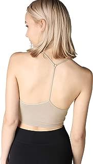 Women Seamless Skinny Y-Back Bralette, One Size