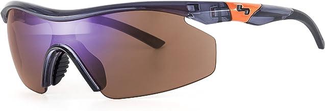 Sundog Trueblue Pace Sunglasses, Shiny Crystal Gray/Brown/Blue