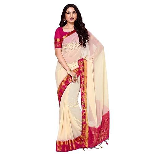 4345e934b06fcc White Saree with Red Border: Buy White Saree with Red Border Online ...