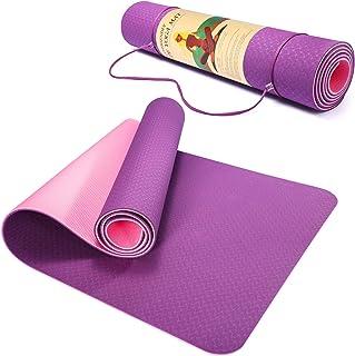 Pretigo 6mm Extra Thick Yoga Mat for Women, Non-Slip...