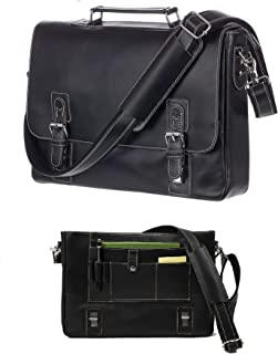 Viosi Mens RFID Leather Messenger Bag / 14 or 16 Inch Laptop Briefcase Shoulder Satchel Bag/RFID Money Clip Included