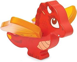 Le Toy Van - Castles Collection träleksaker pedagogisk drakfigur leksak | barn trälås lekset modell lås