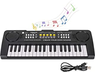 M SANMERSEN Electronic Piano Keyboard 37 Key Music Keyboard