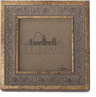 4x4 Picture Frame Antique Gold - Mount Desktop Display, Instagram Prints Frames by EcoHome