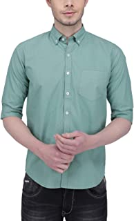Southbay Pista Green Cotton Printed Casual Shirt for Men