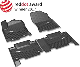 3W Floor Mats for Nissan Rogue (2014-2019) - Heavy Duty All Weather Protection Custom Fit Car Floor Mats Liners Pad with Odorless TPE, Black