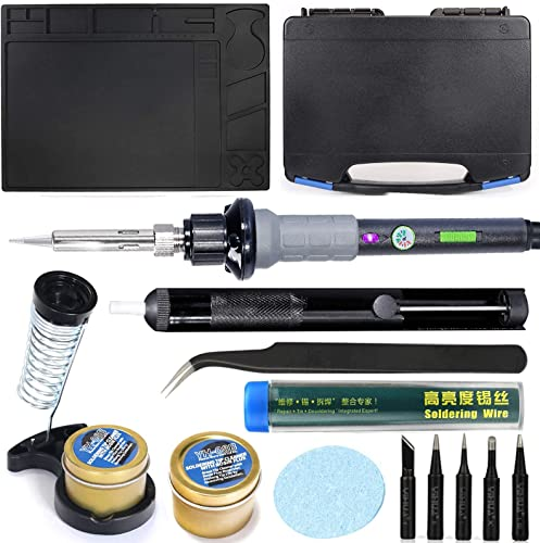 popular YIHUA 947-V Hand Soldering Iron Kit bundle with #08B Rosin Cleaning high quality Kit with Iron Holder, Cleaning Kit, discount and Accessories (14 Items) online sale