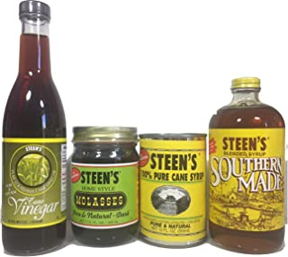 Steen's Syrup 4 Piece Variety Pack - Cane Vinegar, Molasses, Cane Syrup, and Sourthern Made Syrup