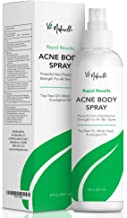 Body Acne Spray Treatment with Tea Tree Oil and Salicylic Acid for Men, Women, and Teens - Powerful Non-Prescription Strength Exfoliating Spray for All Skin Types - 2.5% Benzoyl Peroxide