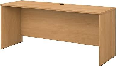 Bush Business Furniture Series C 72W x 24D Credenza Desk in Light Oak