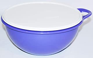 purple tupperware bowl