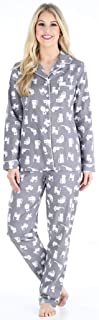 Image of Cute Cat Flannel Pajamas for Women - PajamaMania