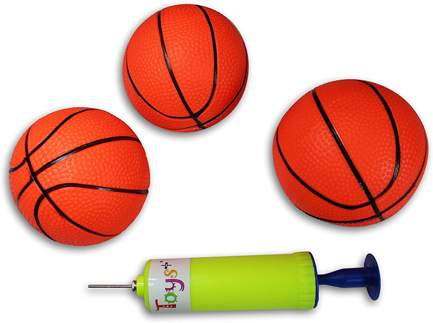 Toys+ 3 Pack! Inflatable Mini Basketballs Includes Pump and Need