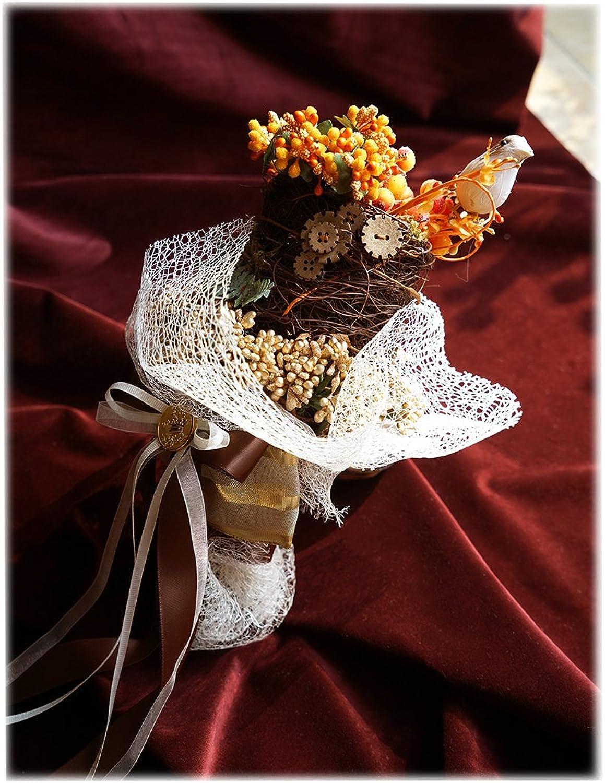 Steampunk Wedding Bride Bird Nest Handmade Bouquet