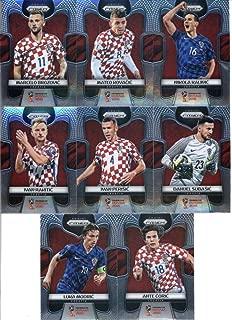 2018 Panini Prizm World Cup Soccer Croatia Team Set of 8 Cards: Ante Coric(#225), Danijel Subasic(#226), Ivan Perisic(#227), Ivan Rakitic(#228), Luka Modric(#229), Marcelo Brozovic(#230), Mateo Kovacic(#231), Nikola Kalinic(#232)