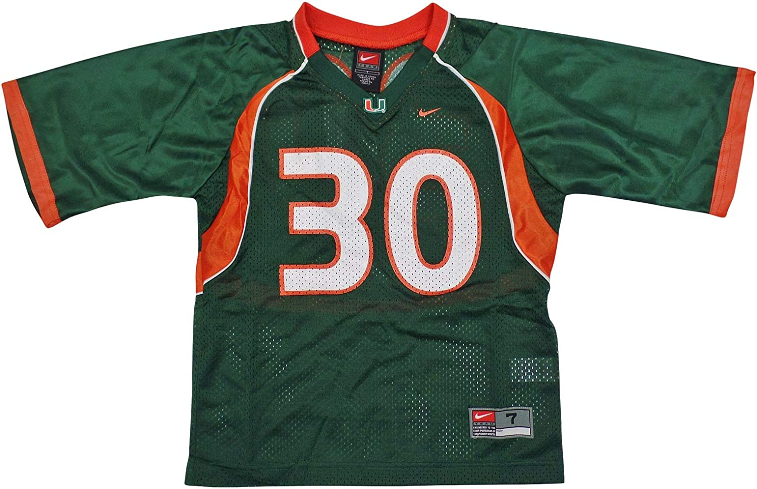 Nike Miami Hurricanes (University of) Kids/Youth College Football Jersey Size