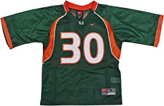 NIKE Miami Hurricanes (University of) Kids/Youth College Football Jersey Size 3T Green