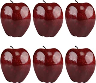 Gresorth 4pcs Artificial Gold Apple Fake Fruit Decoration Home Party Kitchen Christmas Display Photo Props
