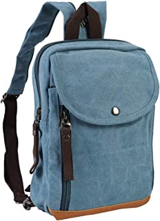 Mini Canvas Backpacks Casual Strong Small Packback Daypack,181002-Light Blue