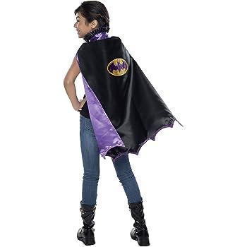 "Mask Set Purple Batgirl /"" Cape Costume Gold"
