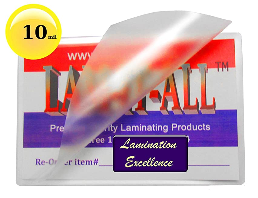 10 Mil Hot Legal Laminating Pouches 9 X 14-1/2 [Pack of 50] by LAM-IT-ALL