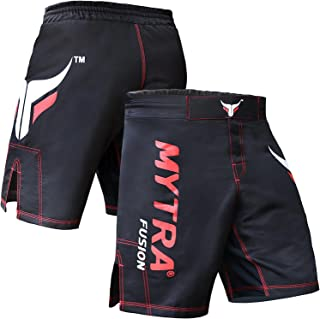 Mytra Fusion Black MMA and Combat Shorts for Boxing