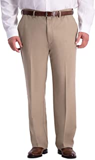 Haggar mens B&T Cool 18 PRO Classic Fit Flat Front Pant Pants