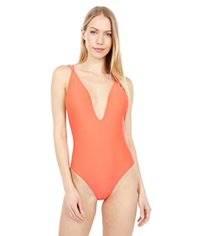 Volcom Simply Solid One-Piece (Electric Coral) Women