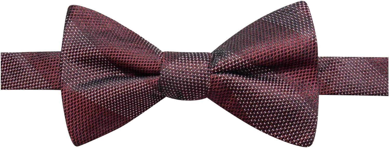 Ryan Seacrest Distinction Men's Islip Bar Stripe Pre-Tied Silk Bow Tie