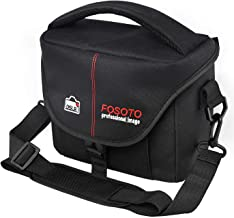 Canon SX540 SX420 G7X G9X with Extra Rain Cover Portable Compact Camera Bags Nikon Coolpix B500 B600 L340 L330 FOSOTO Waterproof SLR Camera Bag Case Anti-shock Compatible for Sony A6000 A7iii