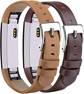 Tobfit Leather Bands Compatible with Alta Bands/Alta HR/Ace Accessory Band for Women Men, 5.5''-8.1''