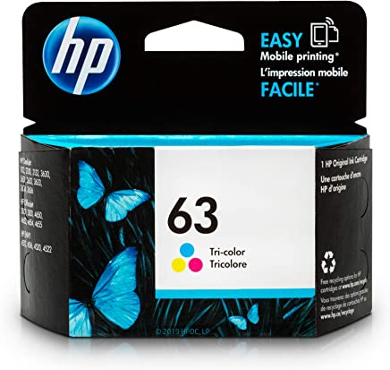 $28 » HP 63 Tri-color Ink Cartridge (F6U61AN) for HP Deskjet 1112 2130 2132 3630 3632 3633 3634 3636 3637 HP ENVY 4512 4513 4520 4523 4524 HP Officejet 3830 3831 3833 4650 4652 4654 4655