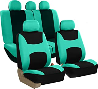 FH Group FB030MINT115 full seat cover (Side Airbag Compatible with Split Bench Mint)