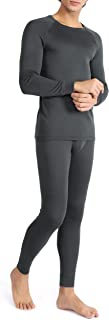 Men's Rib Stretchy Winter Warm Base Layer Top & Bottom Thermal Set Long Johns with Fly