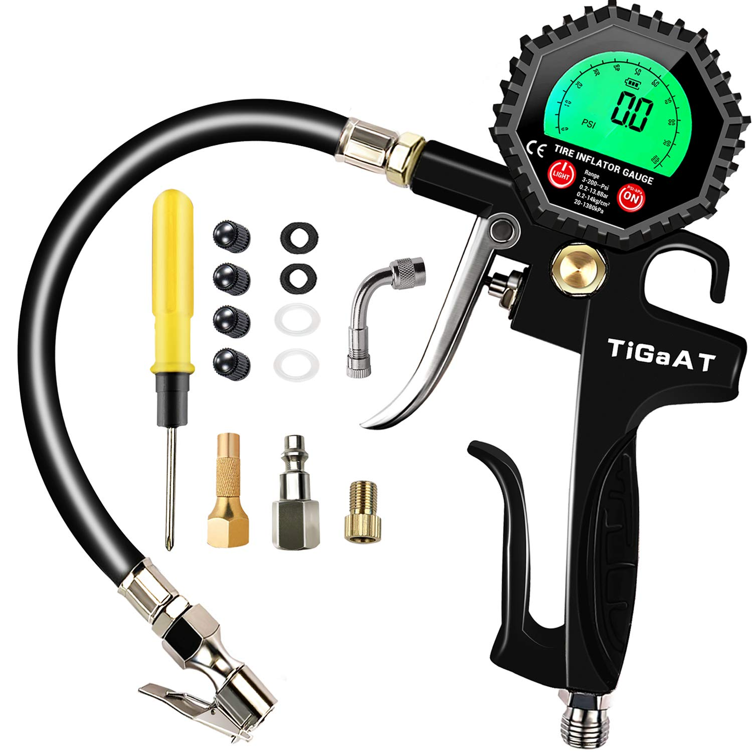 Car Bike Digital Tire Gauge Pressure