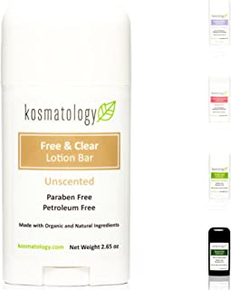 Kosmatology Free & Clear (Unscented) Organic Lotion Bar, 2.65 oz