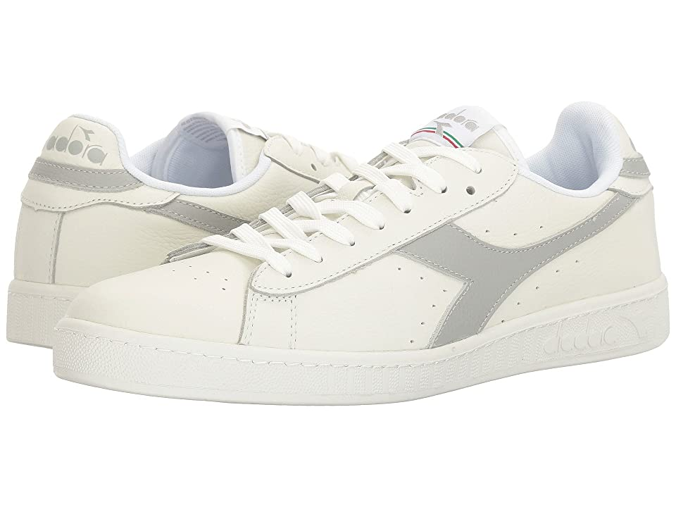 Diadora Game L Low Waxed (White/Gray Violet/White) Athletic Shoes